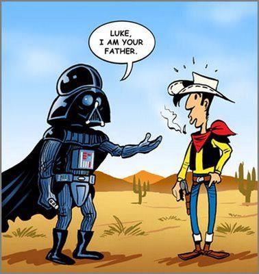 wtf? :))) (lucky luke)Darth Vader, Wars Forever, Funny Pictures, Lucky Luke, Funny Stuff, Stars Wars, Fathers, Favourite Cartoons, Starwars