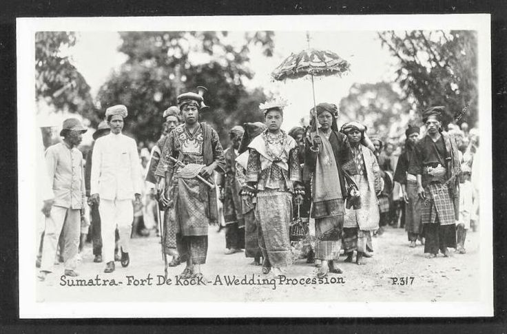 Minangkabau Wedding Procession ~ Fort de Kock ~ Sumatra Indonesia ca. 30s