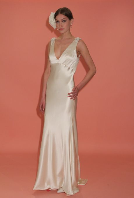 this understated satin gown is the epitome of old hollywood elegance from badgley mischkas spring