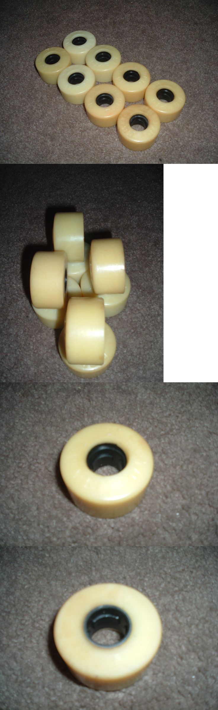 Indoor Roller Skating 165938: Rare Kryptonic White Hard Indoor Skate Wheels 58Mm X 34Mm 96A No Box Yellowed -> BUY IT NOW ONLY: $84.99 on eBay!