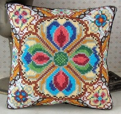 Tudor Amulets Mini Cushion Cross Stitch Kit - Sheena Rogers Designs