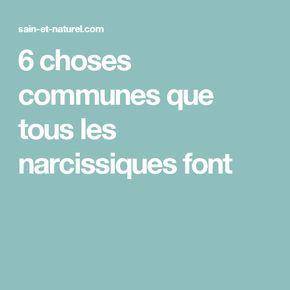 6 choses communes que tous les narcissiques font