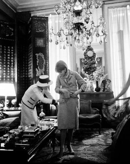 ~Coco Chanel fitting a dress in her Paris apartment ~*