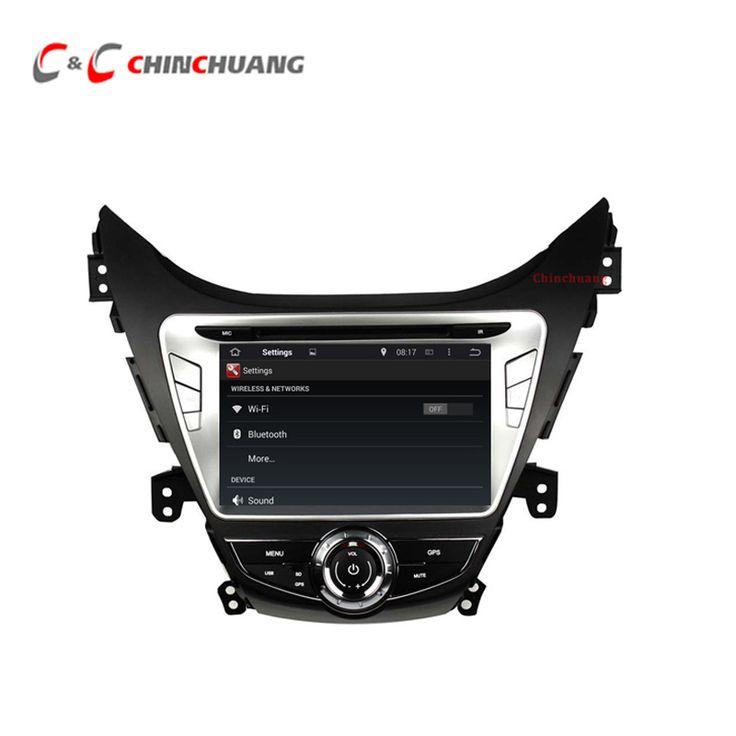 1024*600 Quad Core Android 5.1.1 Car DVD Radio GPS for Hyundai Elantra 2012 with Wifi DVR SWC BT USB Mirror link