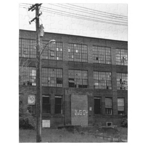 Abandoned Manufacturing Building Jigsaw Puzzle • This