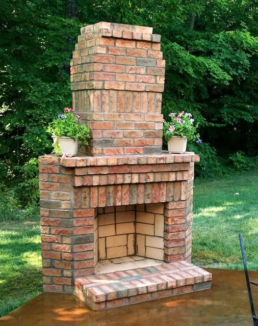 brick stone fireplace   CheckMate Masonry: Out Door Brick Fireplaces are my specialty