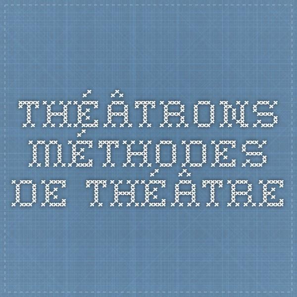 Théâtrons - méthodes de théâtre