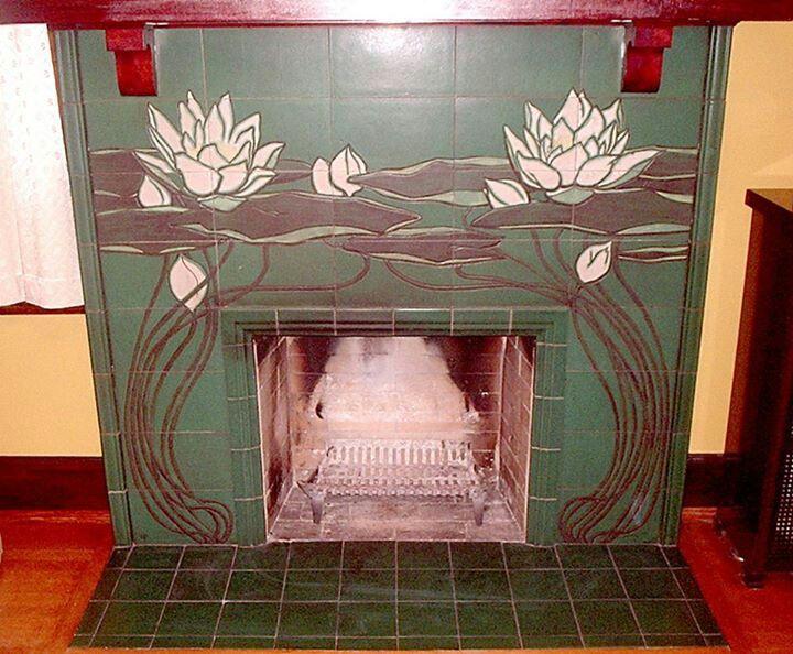 1902 - Rookwood Pottery -  Tile Fireplace Surround - William P. McDonald - Arts & Crafts - Craftsman - Bungalow