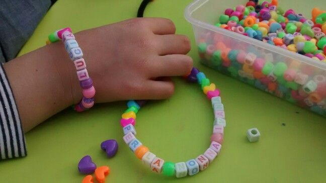 Spelling with beads