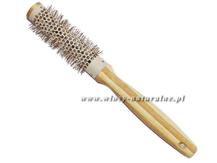 Professional hair brush: bamboo brush hair styling,  the diameter of the body without bristles: 25mm, lightweight and convenient to use, ergonomic handle