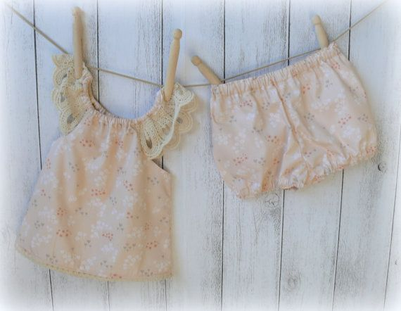 Baby Girl Set with bloomers Sizes by LittleMacsClothing on Etsy, $35.00