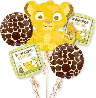 LION KING BABY SHOWER BALLOONS BOUQUET SUPPLIES DECORATIONS SIMBA