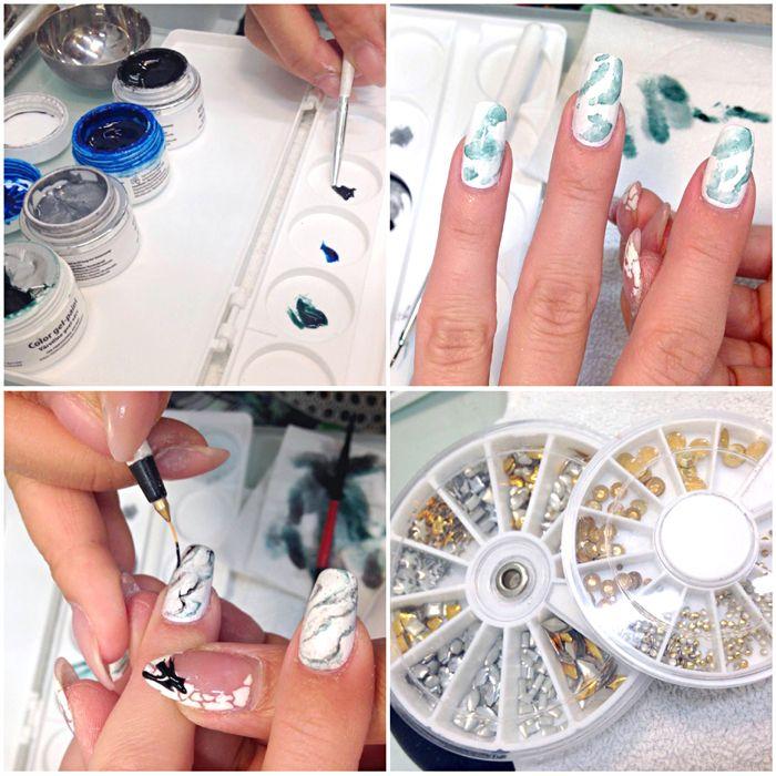 Kävin taas huollattamassa kynteni Detailed Beauty Nailsissa ja tällä kertaa toiveena oli marmorikuviointi kynsiin. Mietin päässäni kuinkakohan sellainen kuvio on mahdollista tehdä, saako siitä aido...