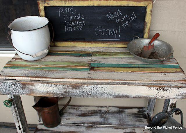 Best 25+ Pallet Potting Bench Ideas On Pinterest