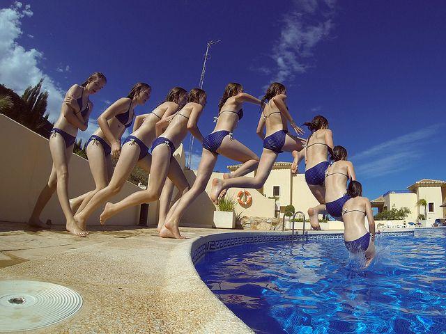 GoPro Burst photo example in La Manga Club Spain