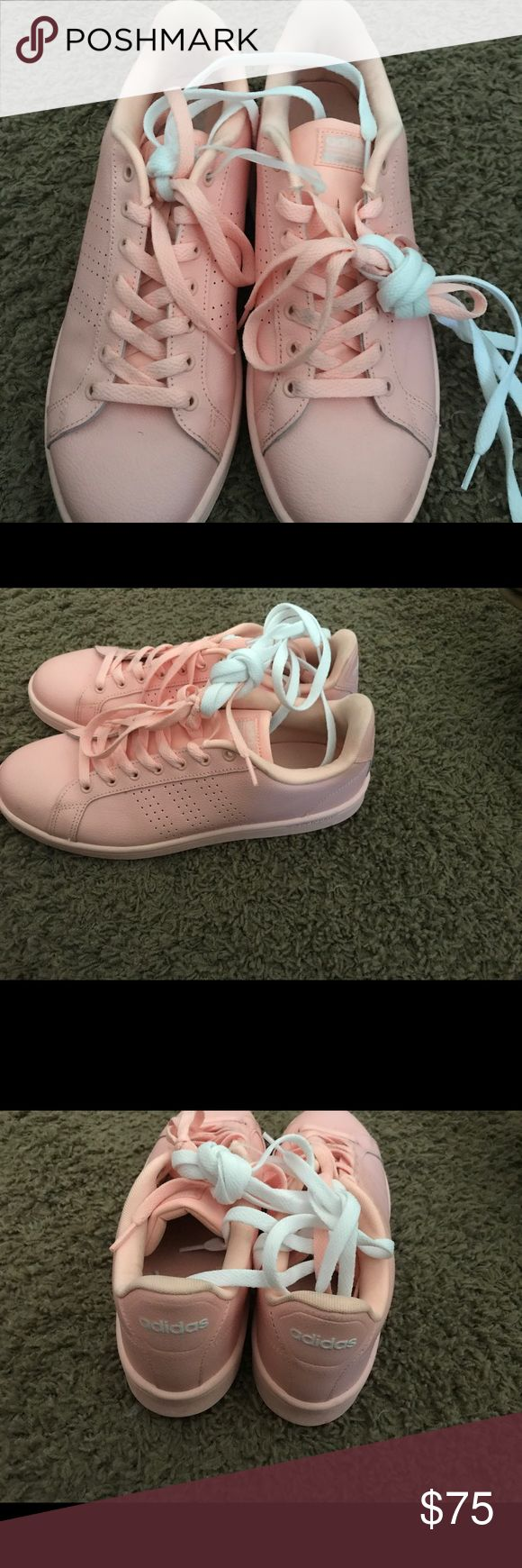 Peach adidas with matching socks In excellent condition like new adidas Shoes Athletic Shoes