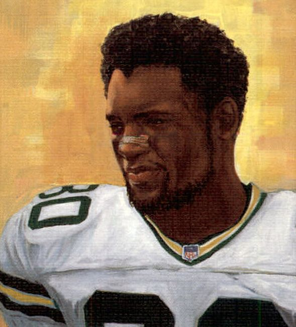 Ahman Green, GB Packers by Corry Wolfe, 2002.