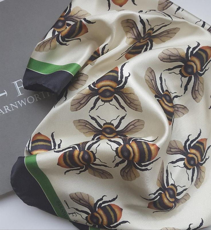 Shrill Carder Bee Scarf from Farnworth & Cole.  This bee is a critically endangered British bee.