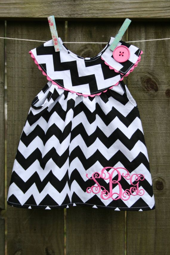 Chevron is certainly what its all about these days. Who could resist this adorable chevron top with adorable ric rac trim and matching