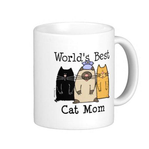 La mejor mamá del gato del mundo taza