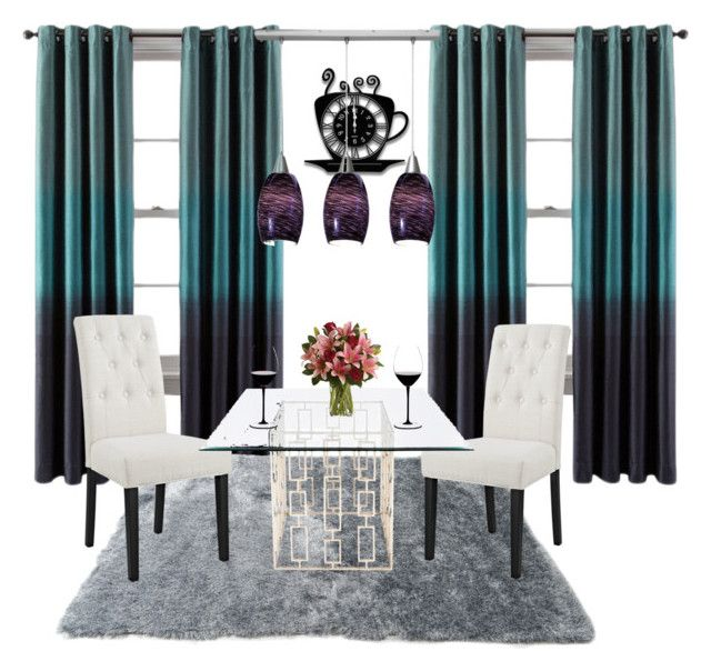 Dining room by girlie-contrast on Polyvore featuring interior, interiors, interior design, home, home decor, interior decorating, Modway, Worlds Away, Riedel and dining room