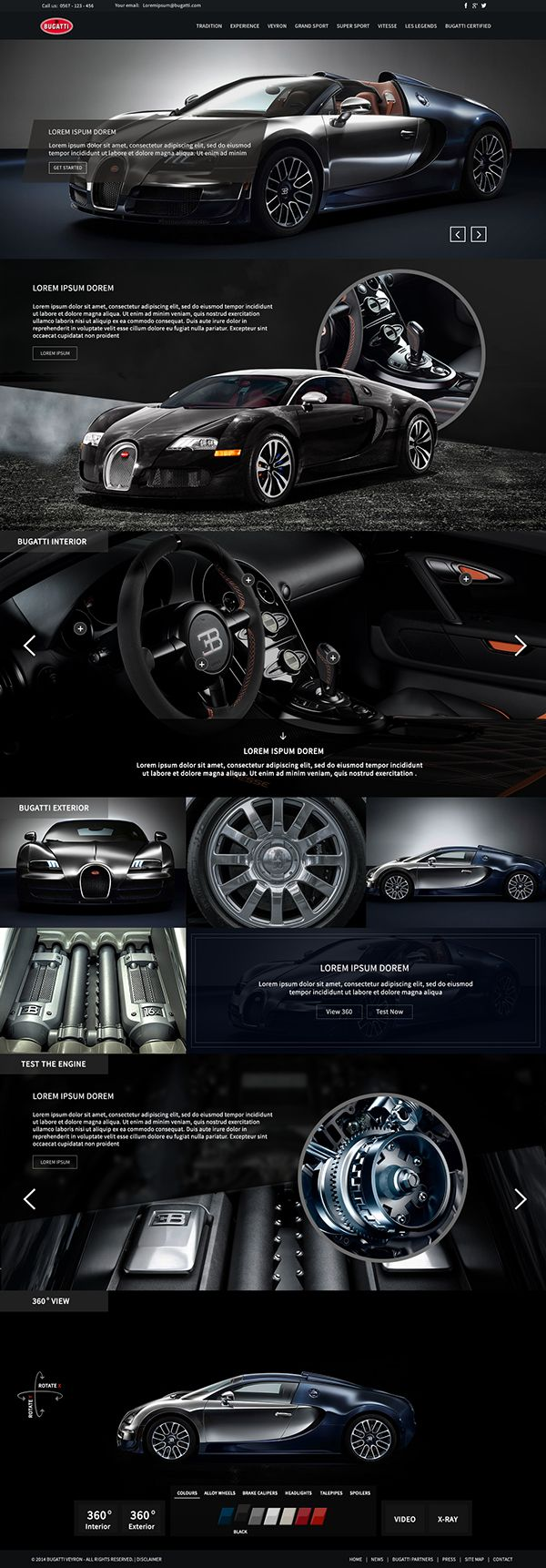 Bugatti Website Design // Hi Friends, look what I just found on #web #design! Make sure to follow us @moirestudiosjkt to see more pins like this | Moire Studios is a thriving website and graphic design studio based in Jakarta, Indonesia.