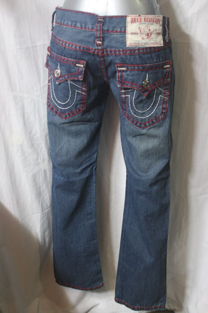 VINTAGE MENS TRUE RELIGION jeans STRAIGHT PIT  w34 L33 made in USA f-189…