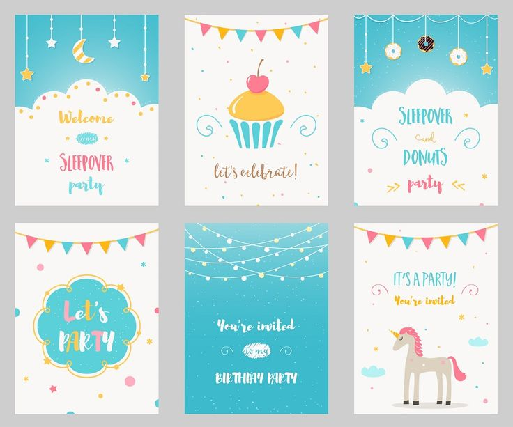 soire pyjama - Cartes et invitations gratuites - 123 cartes