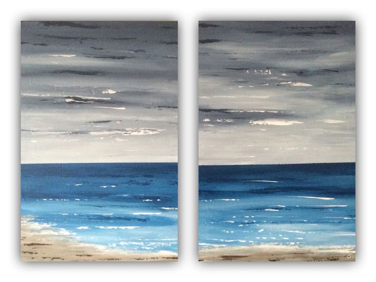Beach, acrylic painting 50x70cm by Erica Willemsen