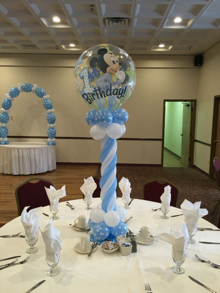 1000 ideas about mickey mouse balloons on pinterest for Baby shower hall decoration ideas