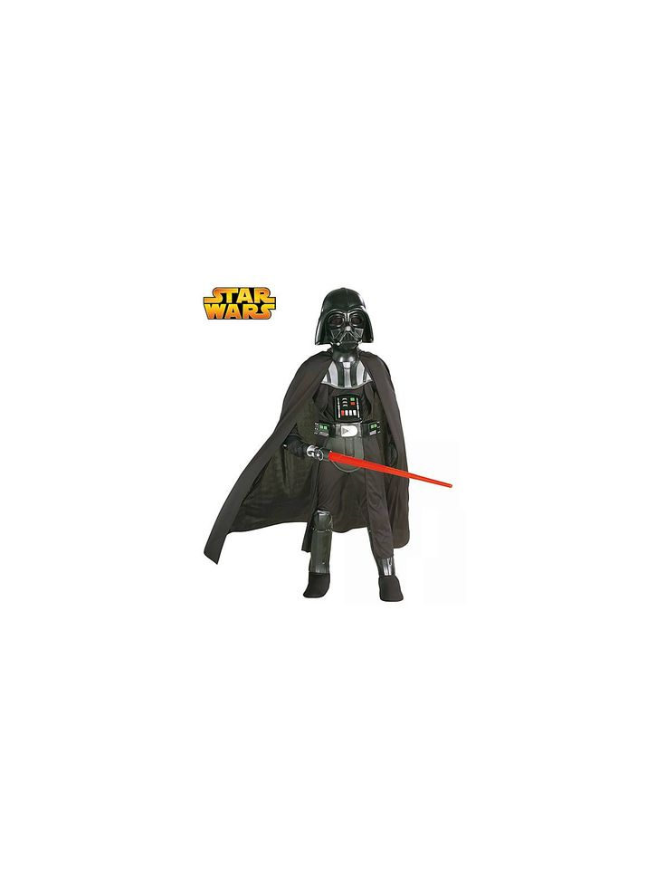 Your child can cross over to the dark side of the Force in this Deluxe Darth Vader Child Costume.