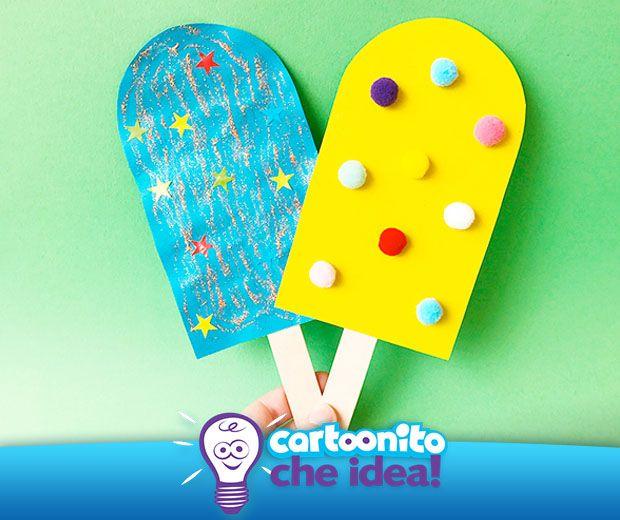 Gelati che non si sciolgono, ideali per giocare! Detto-fatto! Tutte le istruzioni per realizzare dei fantastici gelati di carta sono su #Cartoonitocheidea