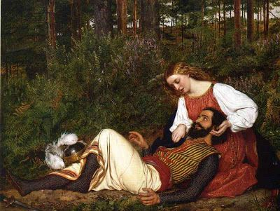 """""""The Wounded Knight,"""" 1853 -- by William Gale (English, 1823--1909)"""
