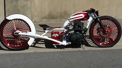 LooseSpokz BarHopper Bobber HONDA rat bike CHOPPER boardtracker W/ harley wheels | eBay Motors, Motocicletas, Honda | eBay!