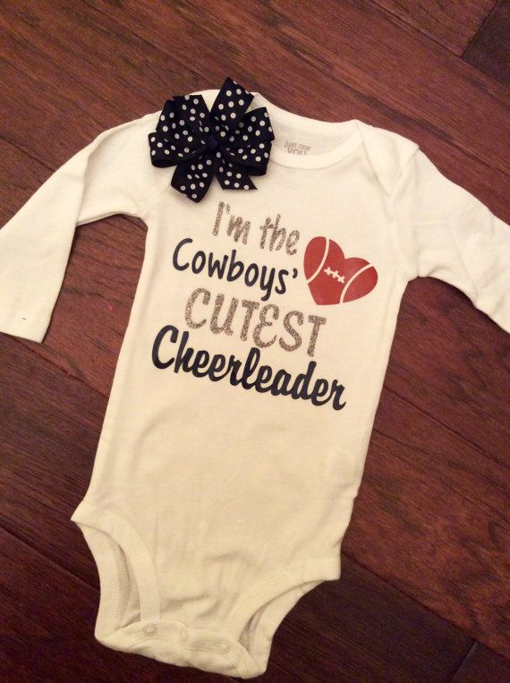 Dallas Cowboys baby girl gift set Dallas by GoodnessGrayson