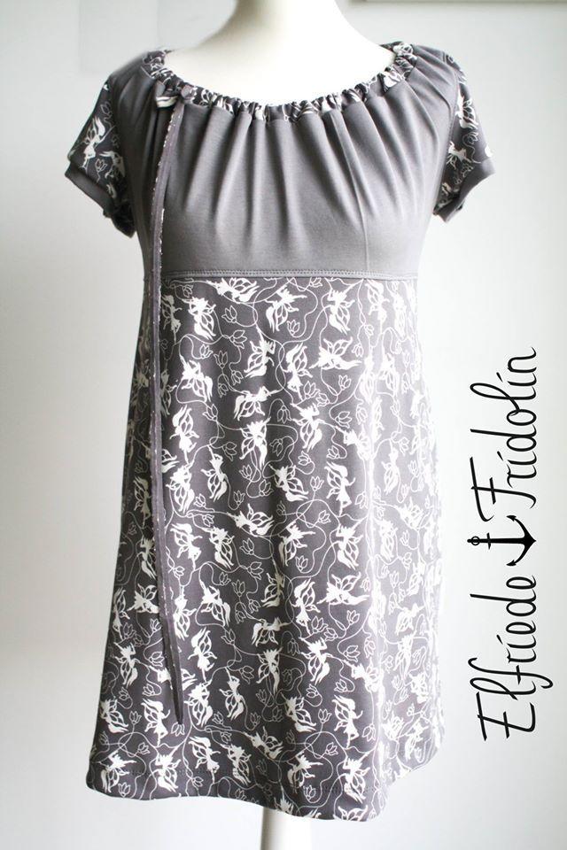 Elfengeflüster grau vernäht von Elfriede und Fridolin