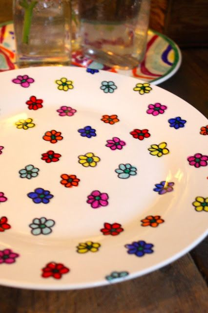 My Sweet Savannah: ~craft night~sharpie plates