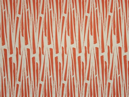 Florentine Leaves, our more geometric print in the Garden Scent Range, featured here in Blood Orange on Off White