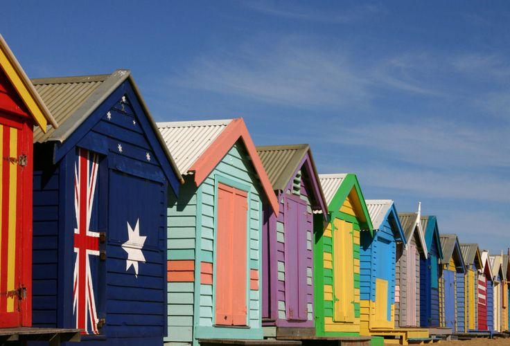 Colorful places: Brighton Beach, Melbourne, Australia
