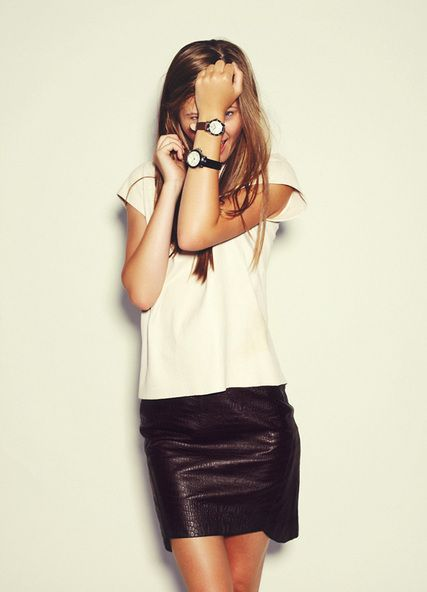 RUSSH: Russh Mag, Photo Credit, Leather Skirts, Black Leather, Sabo Watches, Podmor Models, Black Skirts, Fashion Inspiration, Portraits