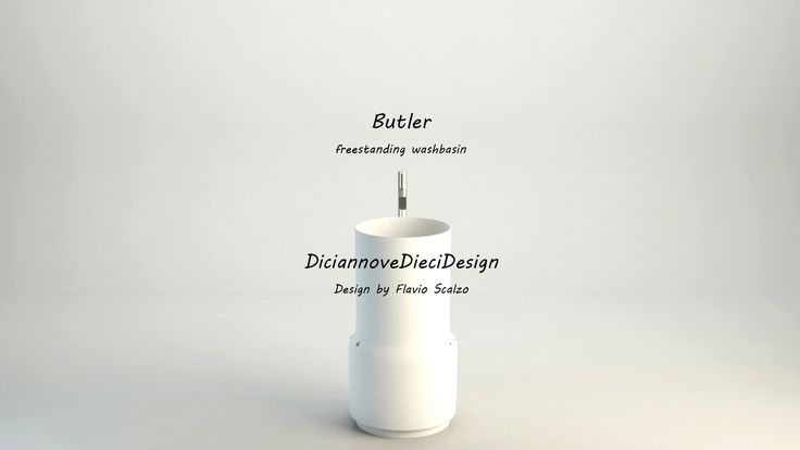 """BUTLER Un lavabo freestanding """"un fedele maggiordomo"""" dalla forma pura coniuga semplicità d'uso, poesia e funzionalità, non si limita al suo mero uso di contenitore dell´acqua, ma è anch´esso uno strumento che sorregge e ti mette a disposizione di tutto ciò che ti occorre, facendo decidere a te cosa e come ti serve mediante originali serie di accessori in legno massello: porta-asciugamani, tavolini, specchio, lampada e attaccapanni."""