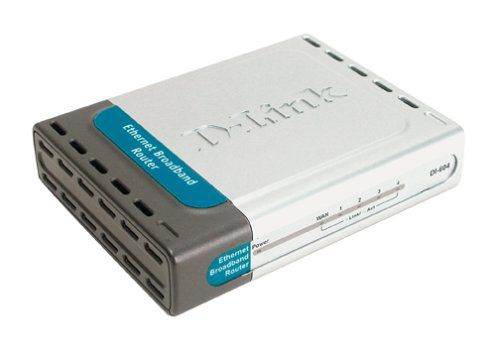 D-Link DI-604 Cable/DSL Router, 4-Port Switch