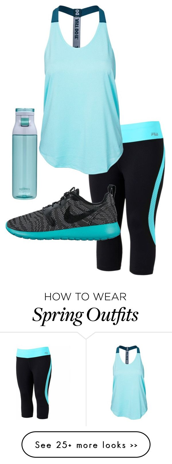 """""""Spring Running Outfit"""" by tumblurfashion on Polyvore"""