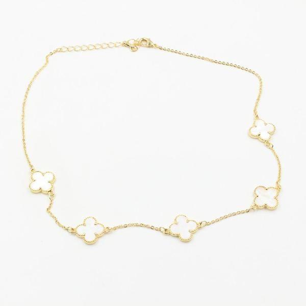 سلسال عقد فان كليف 5 وردات Gold Bracelet Jewelry Jewels