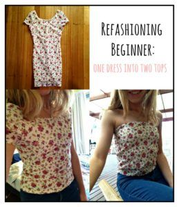 One Dress into Two Tops Refashion @ freebemlife.com