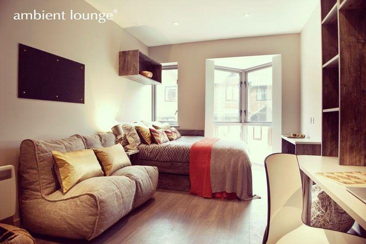 Дизайнерская бескаркасная мебель от Ambient Lounge® преобразила жилые комнаты студентов и весь Кампус университетов в UK. На фото бескаркасный диван Twin Couch™ в цвете Eco Weave. Уникальная и доступная мебель, обладающая высоким качеством и непревзойдённым комфортом: Довольный студент - Успешный студент!