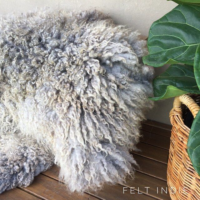 Items Similar To Leather Free Hand Felted Silvery Grey Wool Island Sheep Rug With Matching Cushion Made Of Very Soft Shorn By Felt In On Etsy