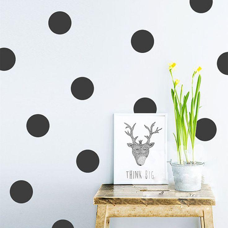 20 шт. / 54 шт. горошек стикер стены наклейки дети дети на стены домашнего декора DIY пил и придерживаться искусство отделка стен купить на AliExpress