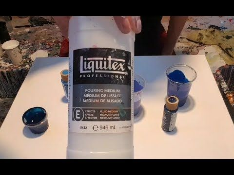 In this video I pour a 2 puddle pour using the colors Black (2 brands), White (2 brands) and a mix of Green LIght Glitter paint by DecoArt and a little Folia... #GlitterPaint