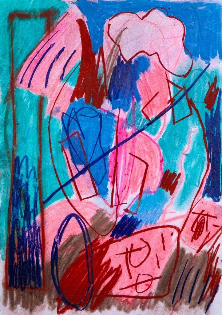 ArtBanana Matyáš Maláč: Bez názvu   pastel na papíře   30x42 cm 2015   1600 Kč   59 EUR   65 $  www.artbanana.cz